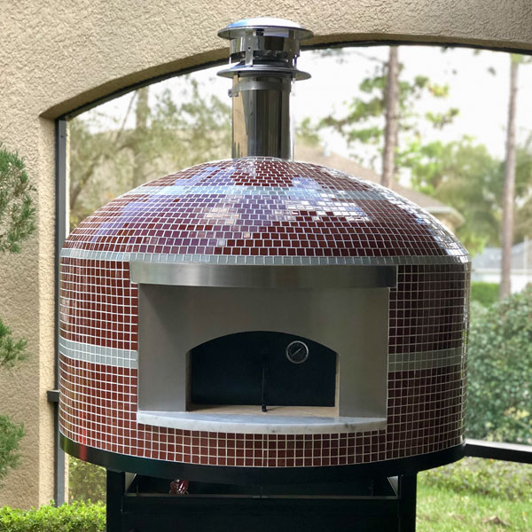 The Nardona Napoli Model is a modern, tiled pizza-oven perfect for residential and commercial use.