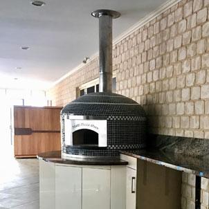 A newly installed Forno Nardona Napoli Model pizza oven.