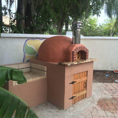 A 24 inch Rustico Model pizza oven built by Forno Nardona.