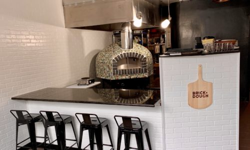 Commercial pizza oven in a pizzeria